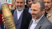 """""""شظايا"""" قذيفة من حزب الله """"تصيب"""" باسيل"""