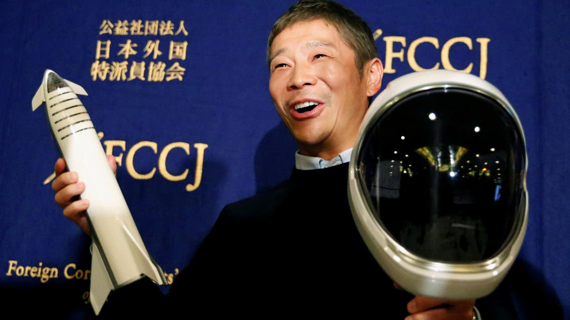 Japanese billionaire Yusaku Maezawa قطب الموضة الياباني يوساكو مايزاوا