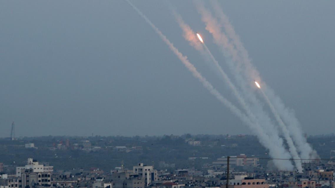 صواريخ تطلق من غزة باتجاه اسرائيل