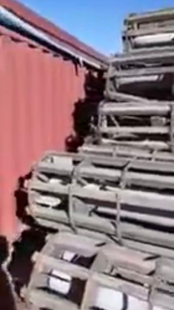أسلحة السفينة الإيرانية
