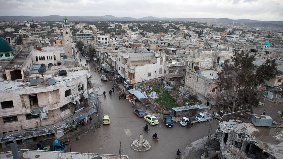 A view of the center of the northern town of Kafranbel, in the northwestern province of Idlib. (File photo: AFP)