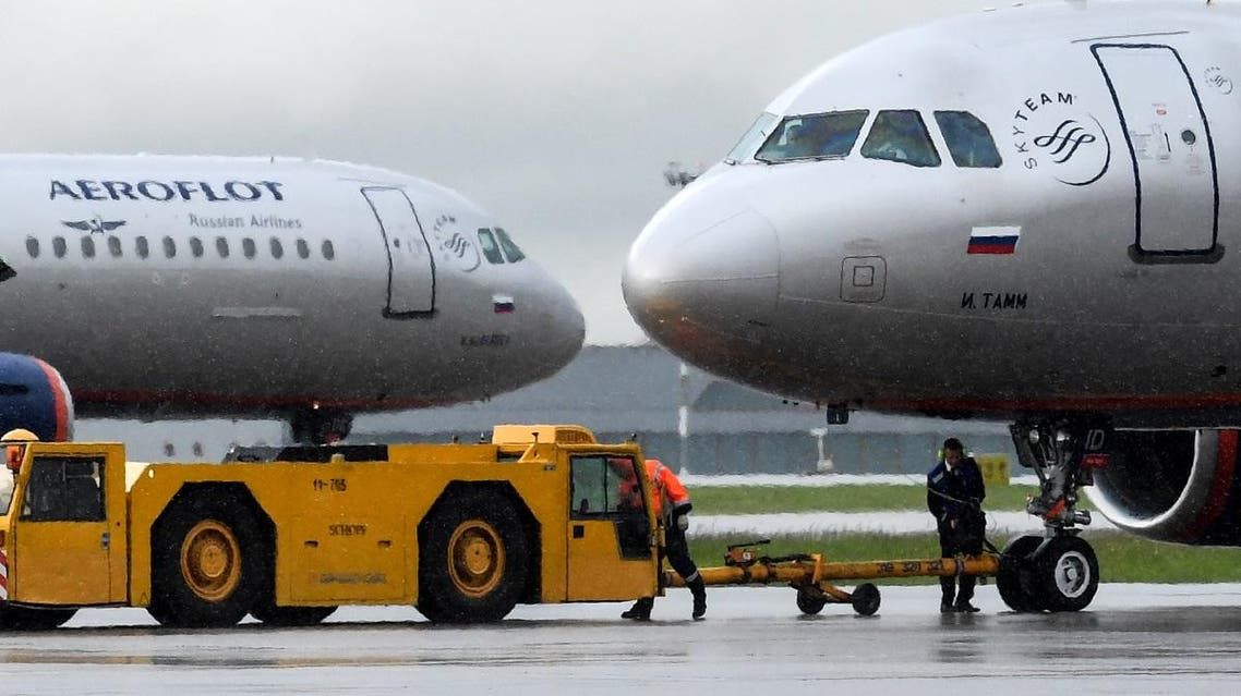 An Aeroflot's aircraft taxis at Moscow's Sheremetyevo international airport. (AFP)