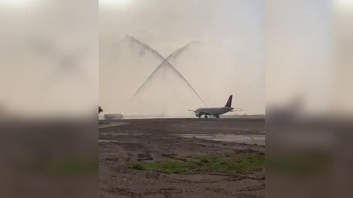 Najran Airport receives first passenger flight after a four-year closure