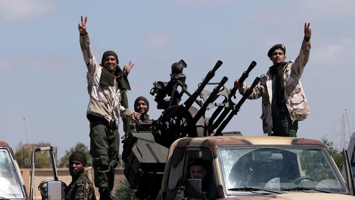 عناصر من قوات الجيش الليبي