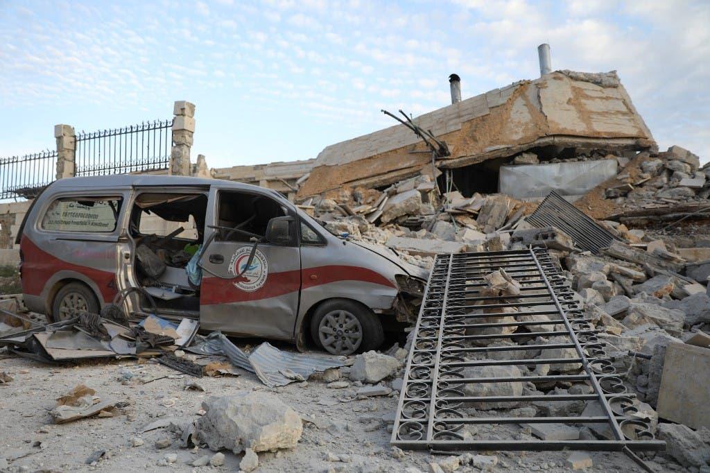 ضرب مستشفى سوريا إدلب