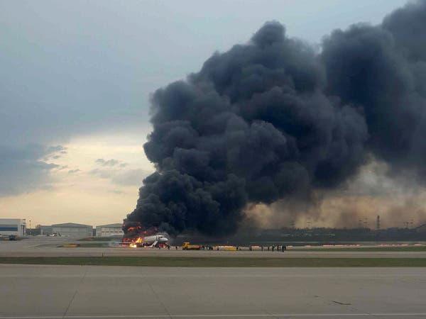 فيديو للرعب داخل الطائرة الروسية وهي تهبط مشتعلة بالنار