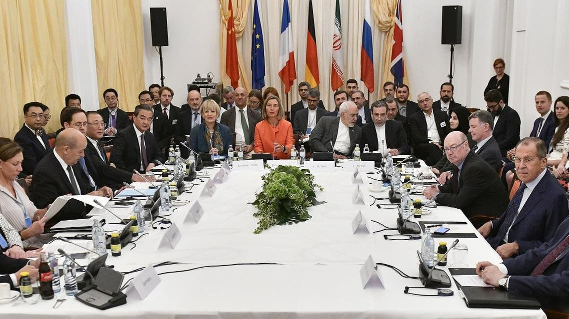 European and Iranian officials take part in a Comprehensive Plan of Action (JCPOA) ministerial meeting on the Iran nuclear deal. (File photo: AFP)