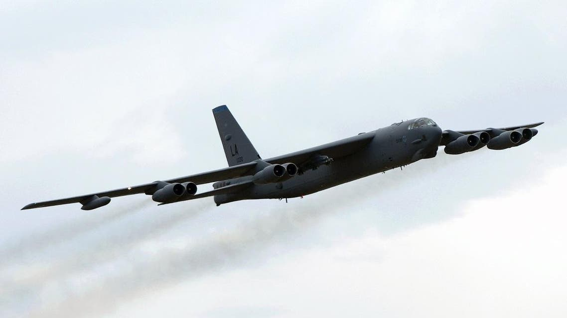 A US Air Force B-52 Bomber performs a fly-by during the first public session of the Australian International Airshow in Melbourne, 23 March 2007. (File photo: AFP)