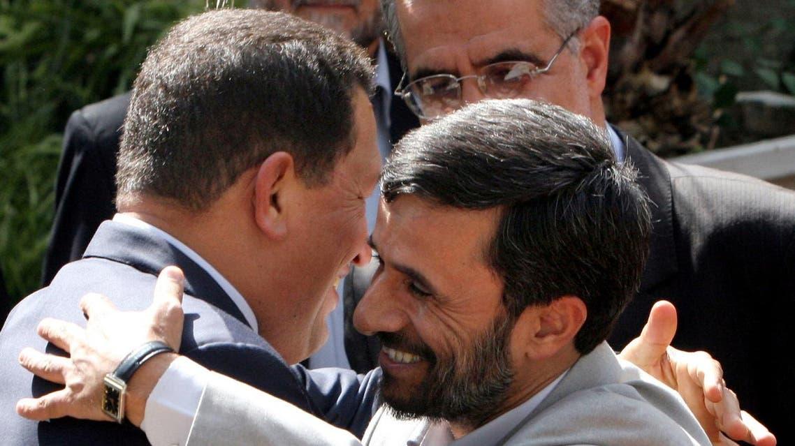 Ahmadenijad & Chavez when they were bros (AP)