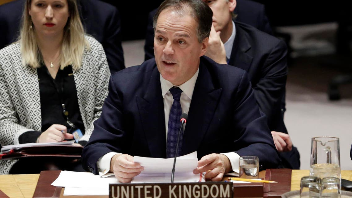 Mark Field speaks in the United Nations Security Council on Jan. 19, 2018. (AP)