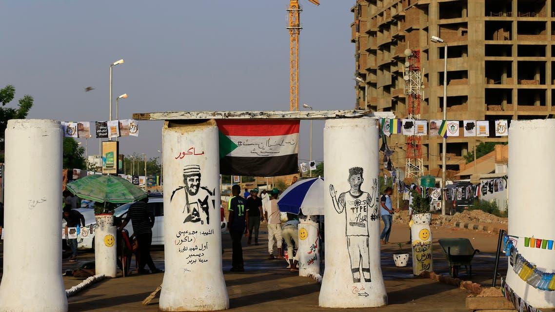 اعتصام القيادة العام في الخرطوم السودان (7 مايوم 2019- فرانس برس)