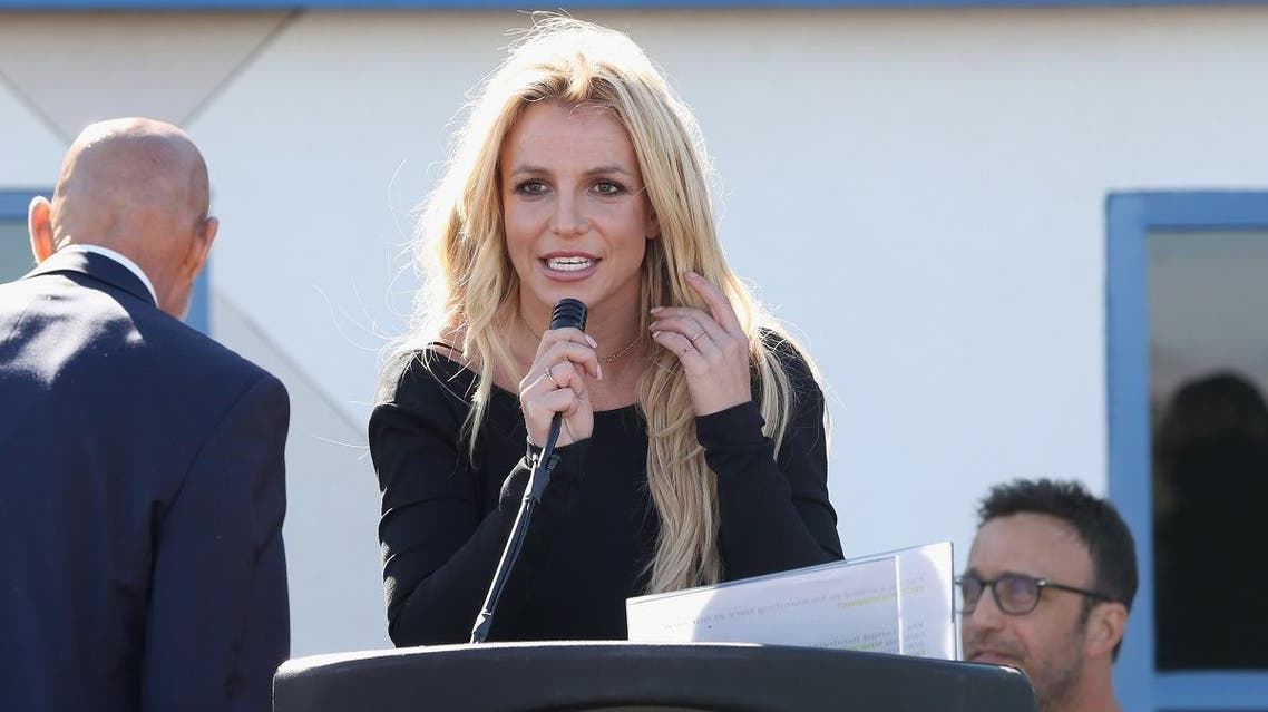 Singer Britney Spears speaks during the grand opening of the Nevada Childhood Cancer Foundation Britney Spears Campus on November 4, 2017 in Las Vegas, Nevada. (AFP)