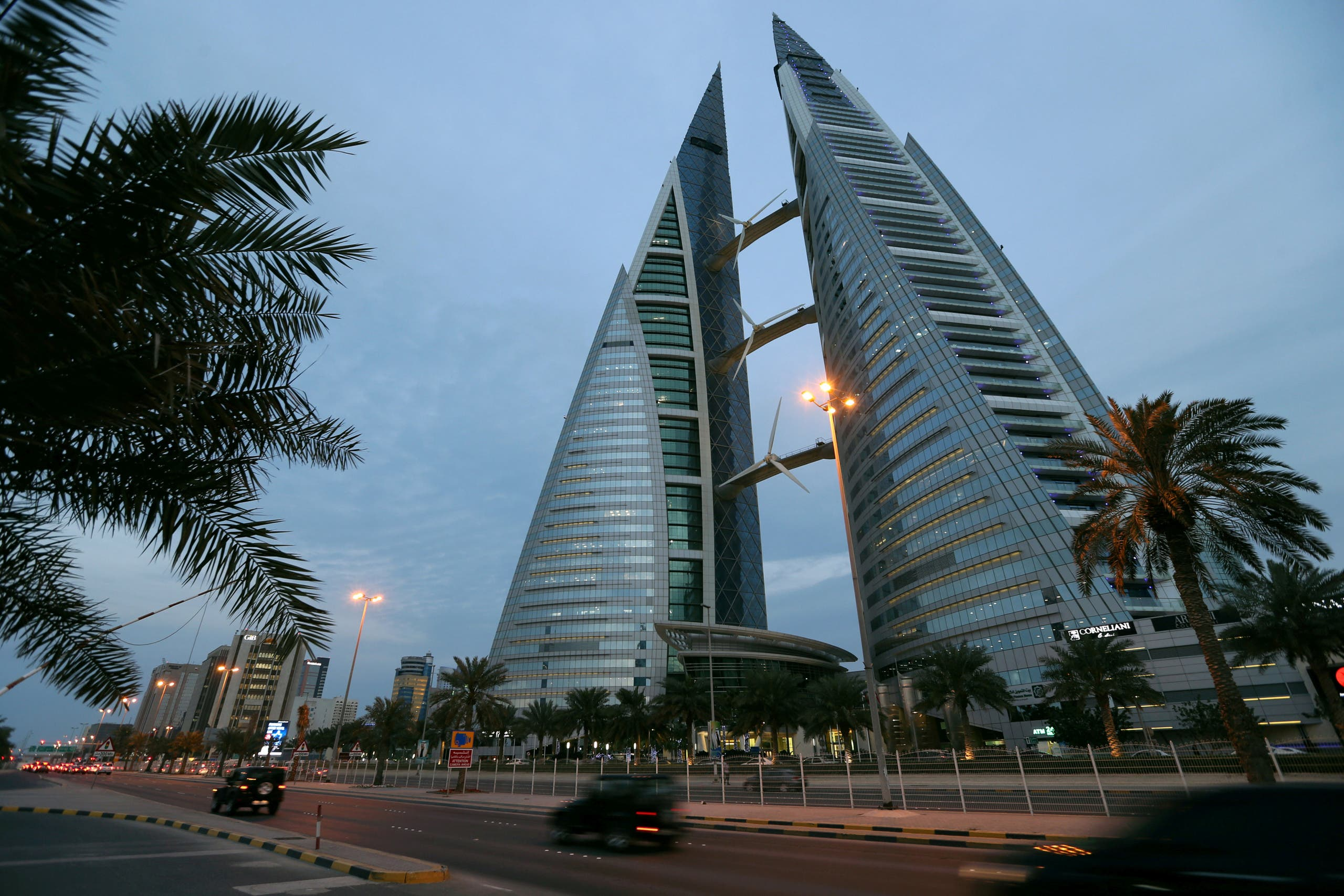 The Bahrain World Trade Center in Manama on February 21, 2019. (Reuters)