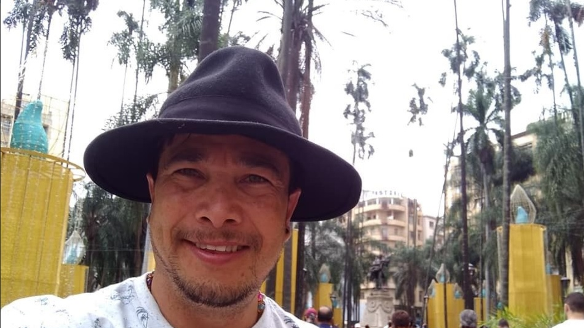 Mauricio Lezama, colombian film-maker who was shot while filming  (twitter)