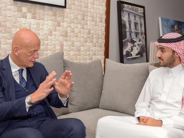 عبدالعزيز الفيصل يلتقي بالإيطالي كولينا