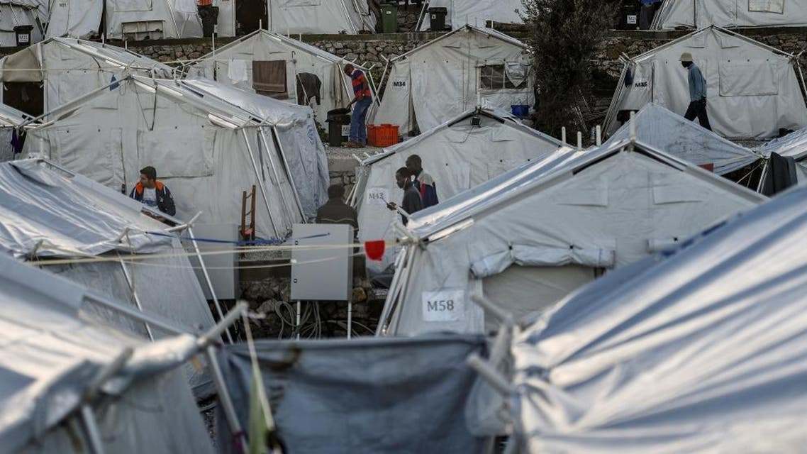 The refugee camp of Moria on the Greek island of Lesbos. (AFP)