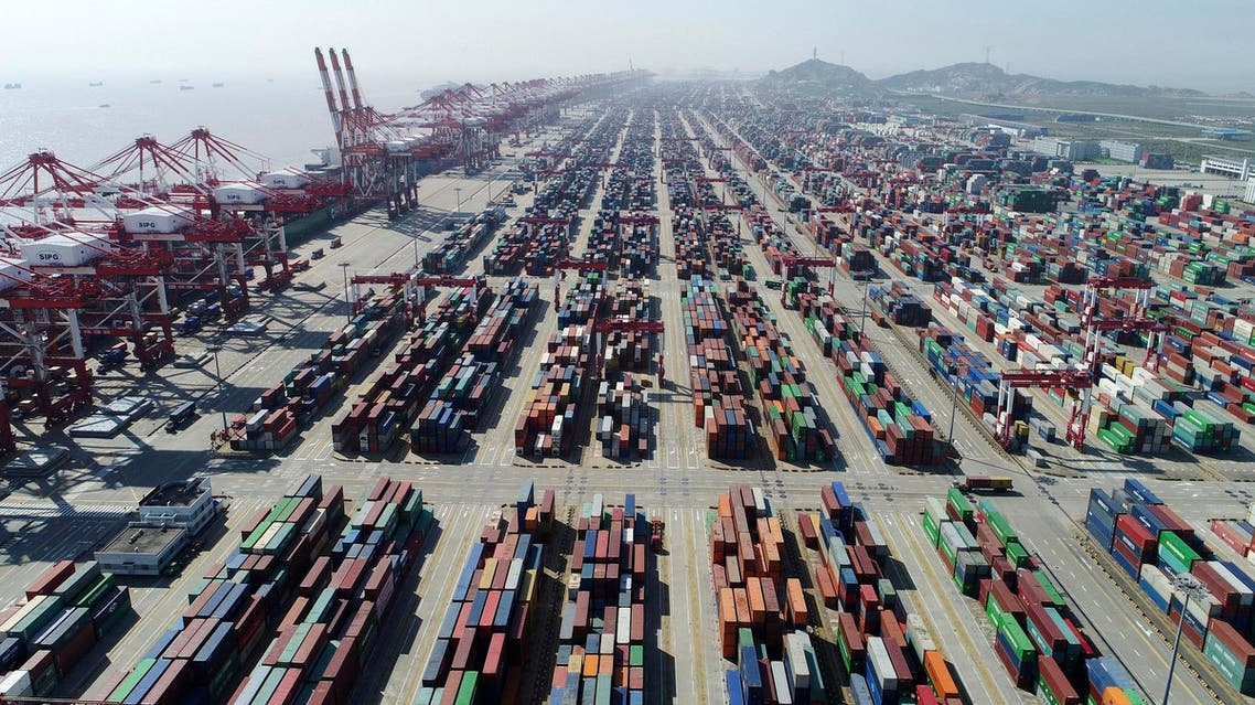 A container dock of Yangshan Port in Shanghai, east China on April 23, 2017. (AP)