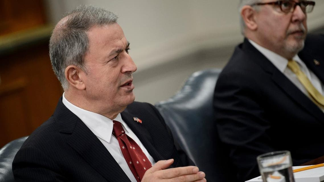 Turkey's Defense Minister Hulusi Akar said Syrian forces should return to territories agreed in an international deal in Astana. (AFP)
