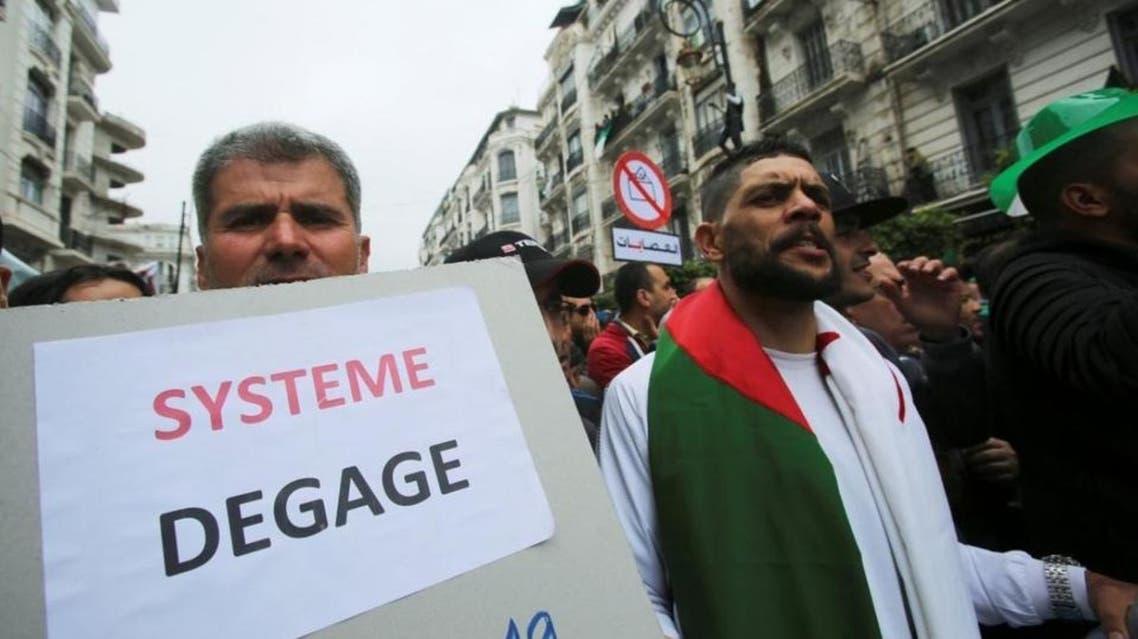 aljazair: protesters