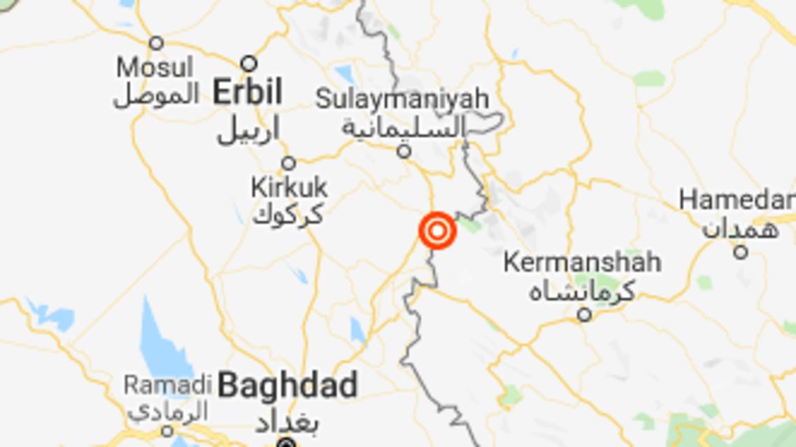 A magnitude 5.3 earthquake struck near the Iraqi Kurdish city of Sulaimaniya. (Google Maps)
