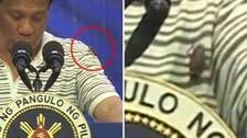 مجمع سے خطاب کے دوران فلپائنی صدرپر کاکروچ چڑھ گیا،پھر کیا ہوا۔ آپ بھی ملاحظہ کیجیے!