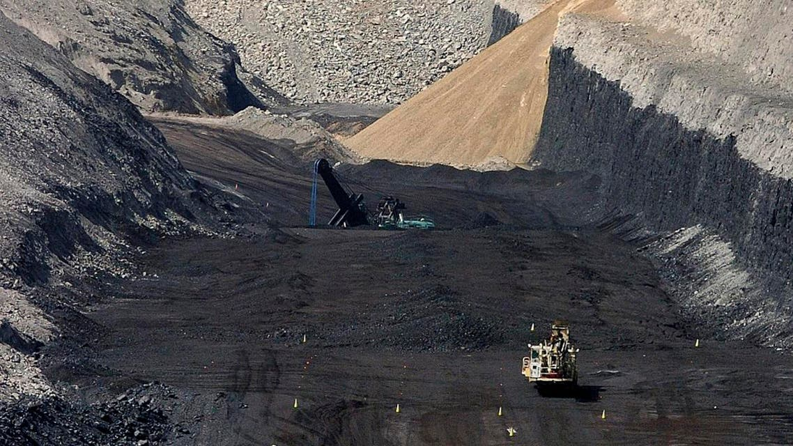 This April 4, 2013 file photo shows an 80-foot coal seam at Cloud Peak Energy's Spring Creek mine near Decker, Mont. (AP)