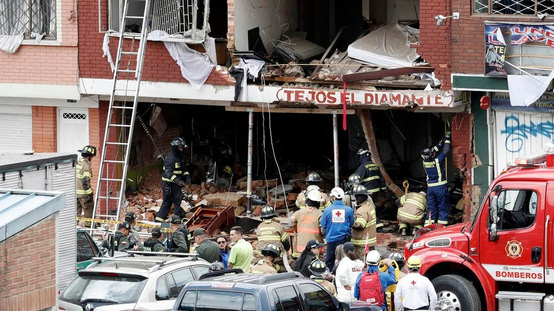 Colombia explosion. (AFP)