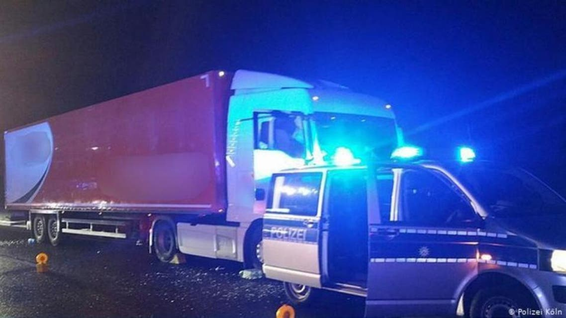 Germany, death of truck driver while driving