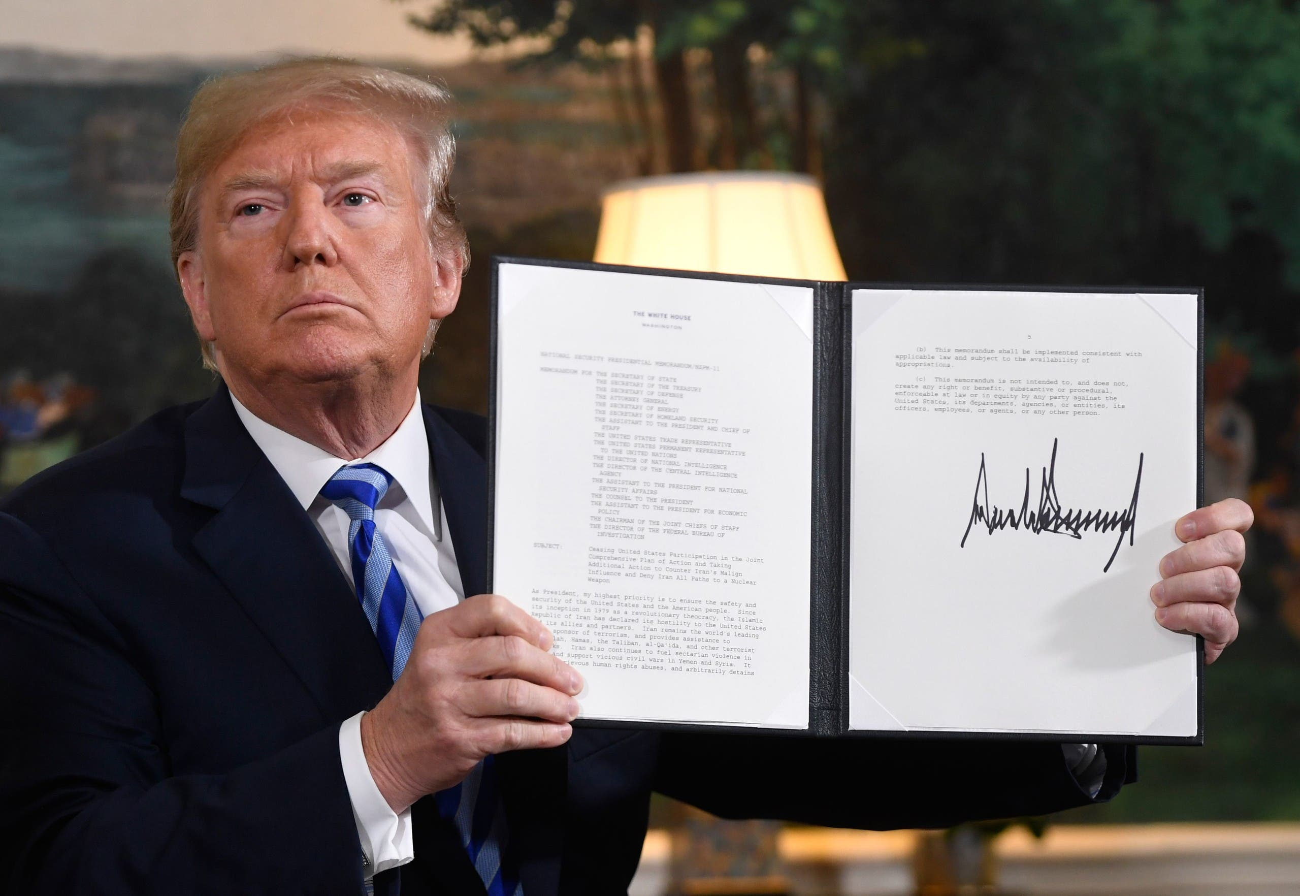 انسحاب ترمب من الاتفاق النووي
