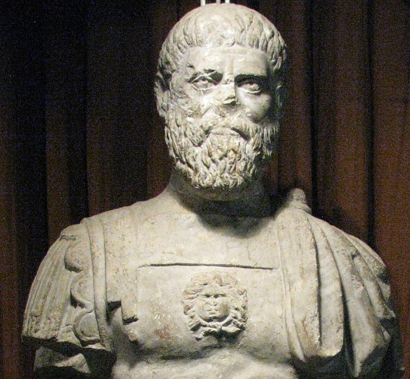 صورة لما يعتقد أنه تمثال نصفي لبرتيناكس