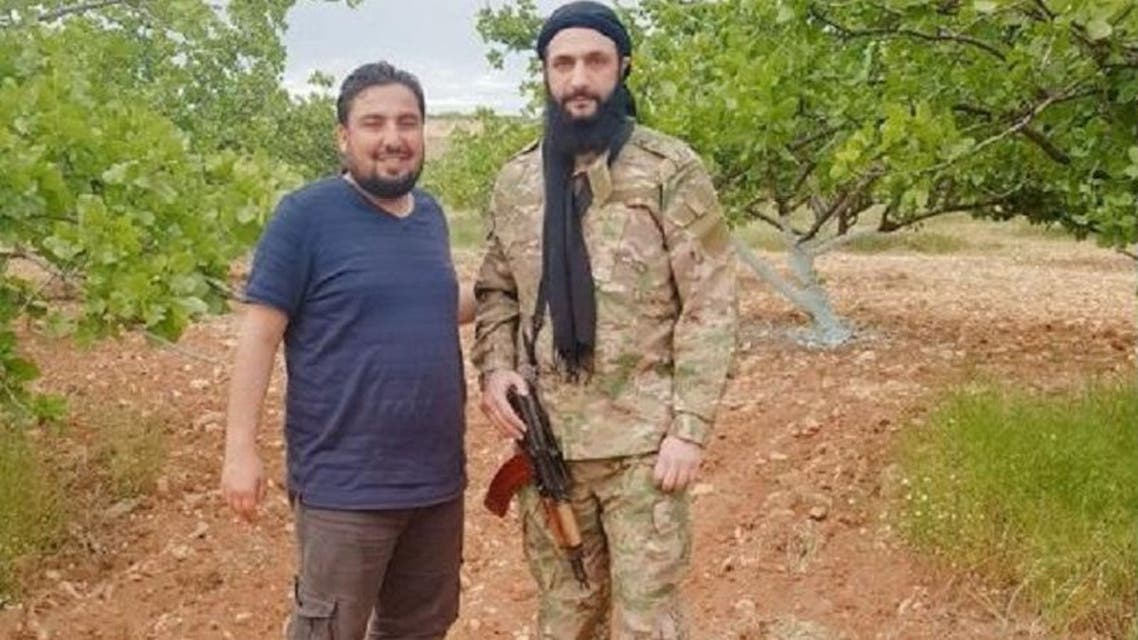 Photographs of Abu Mohammed al-Jolani were first shared on Sunday by Syrian activist and journalist Taher al-Omar. (Social media)
