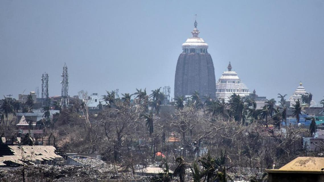 Lord Jagannath temple amid destroyed trees and debris in Puri in the eastern Indian state of Odisha, following Cyclone Fani. (AFP)