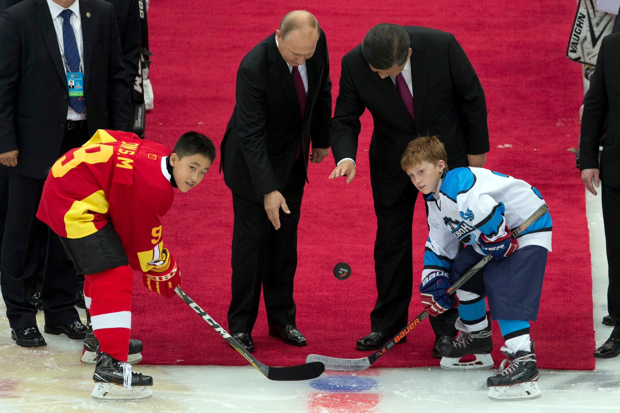 مع الرئيس الصيني