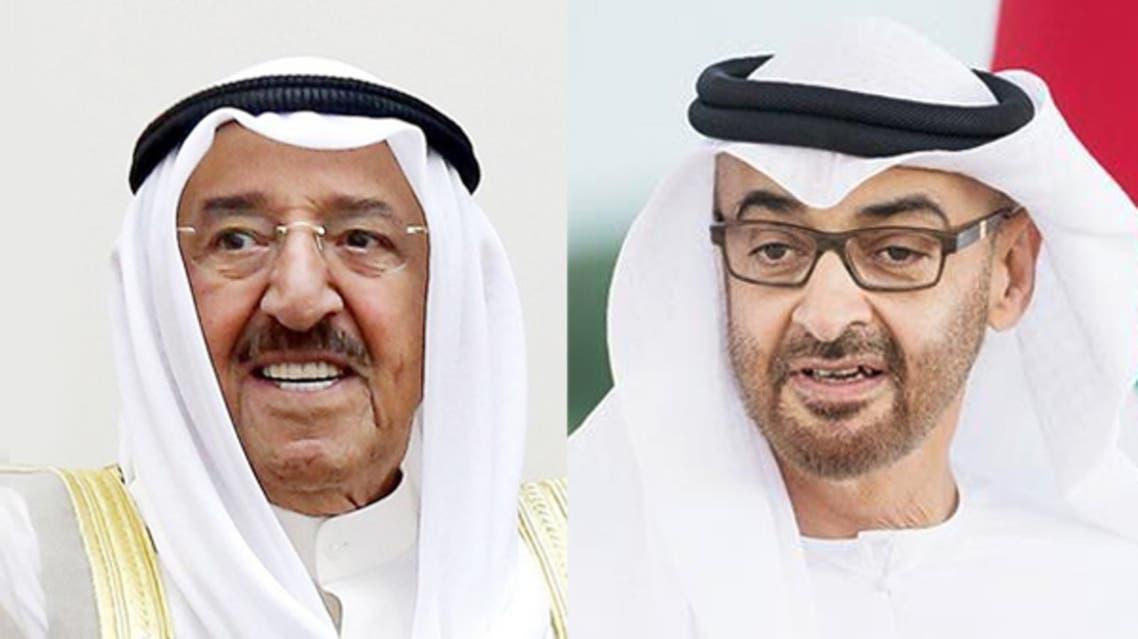 الشيخ محمد بن زايد والشيخ صباح الأحمد