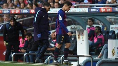 كوتينيو مهدد بالغياب عن برشلونة في نهائي كأس الملك