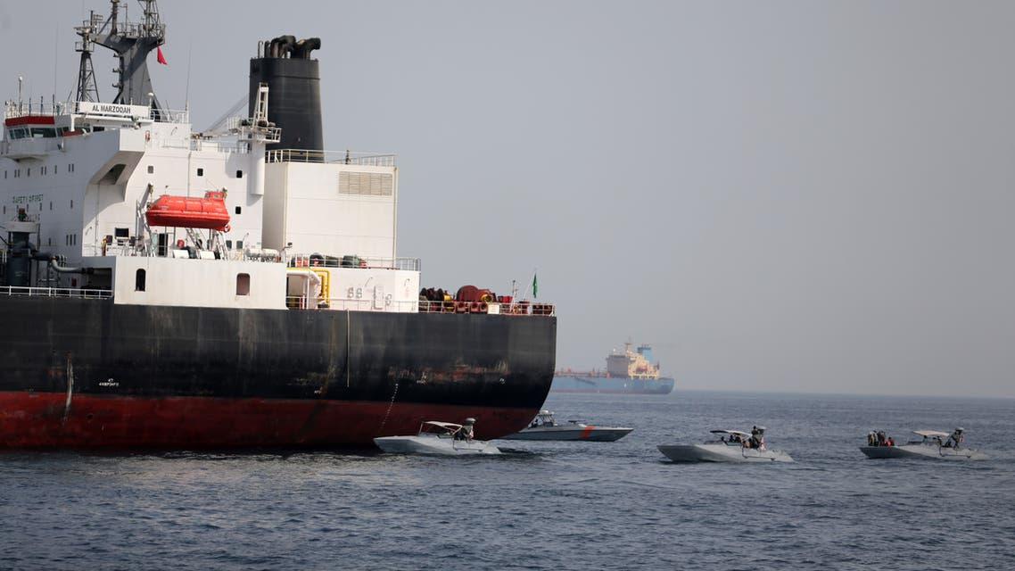 احدى السفن المتضررة قبالة ميناء الفجيرة (رويترز- 13 مايو 2019)
