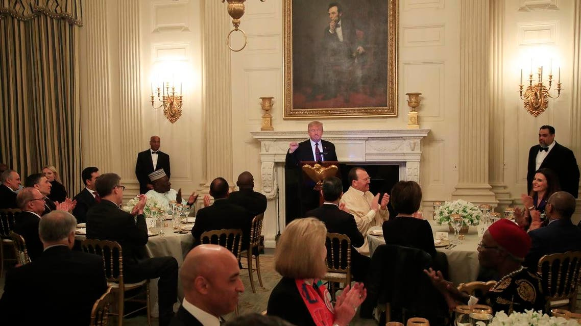 President Donald Trump during an Iftar dinner at the White House in Washington, Monday, May 13, 2019. (AP)