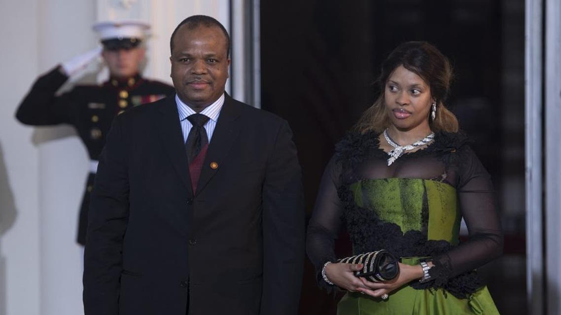 King Mswati III of Swaziland and wife. (AFP)