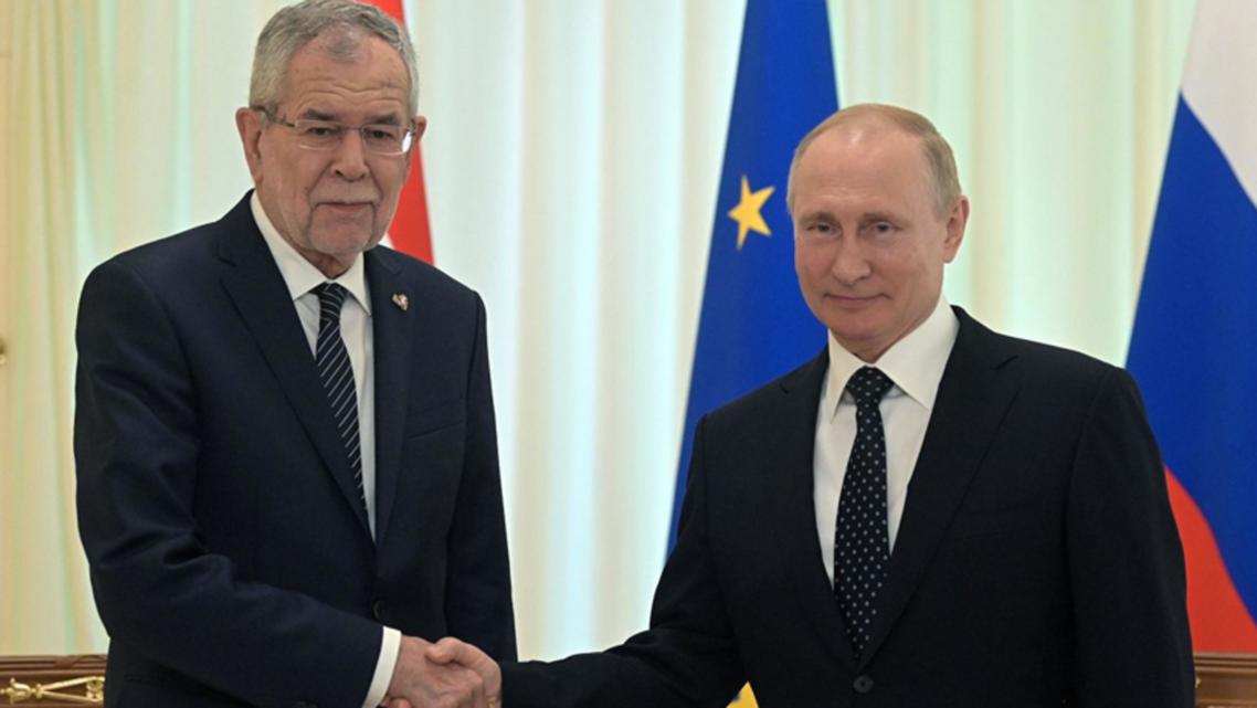 پوتین و رئیس جمهوری اتریش
