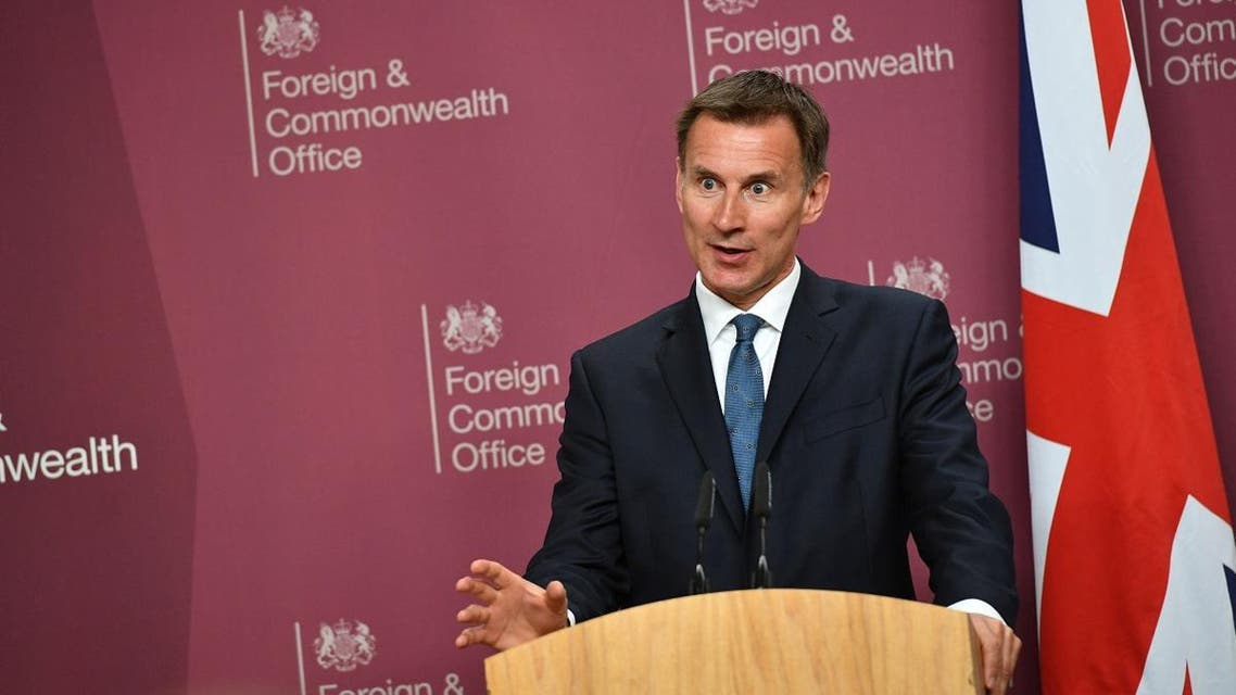 Britain's Foreign Secretary Jeremy Hunt. (AFP)