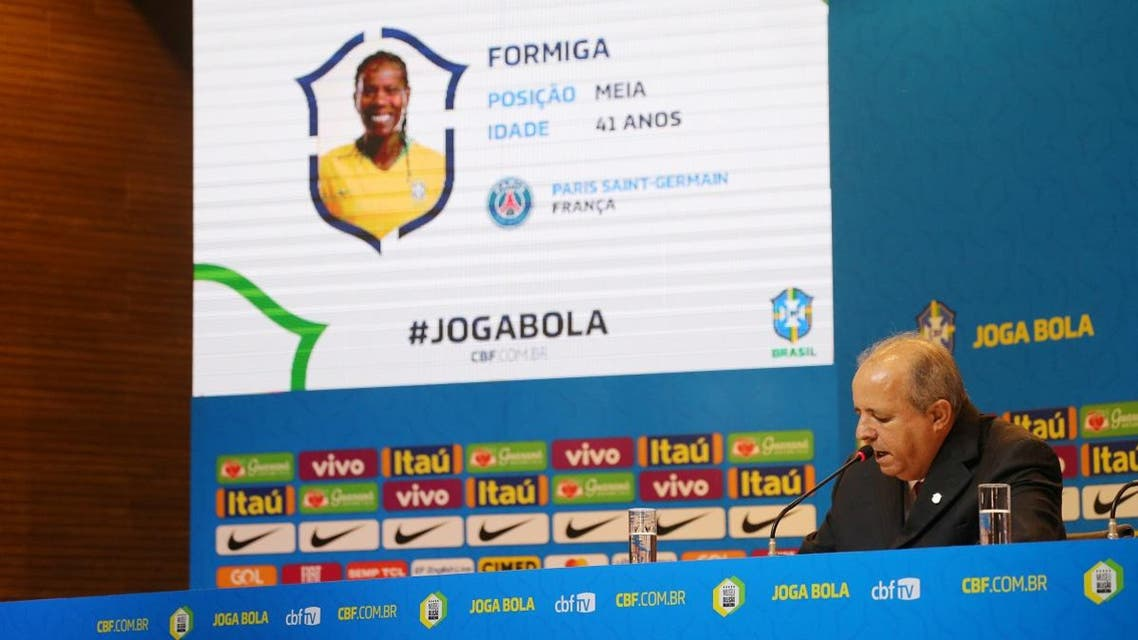 Brazil coach Vadao names Formiga for his squad for the upcoming FIFA Women's World Cup France 2019. (Reuters)