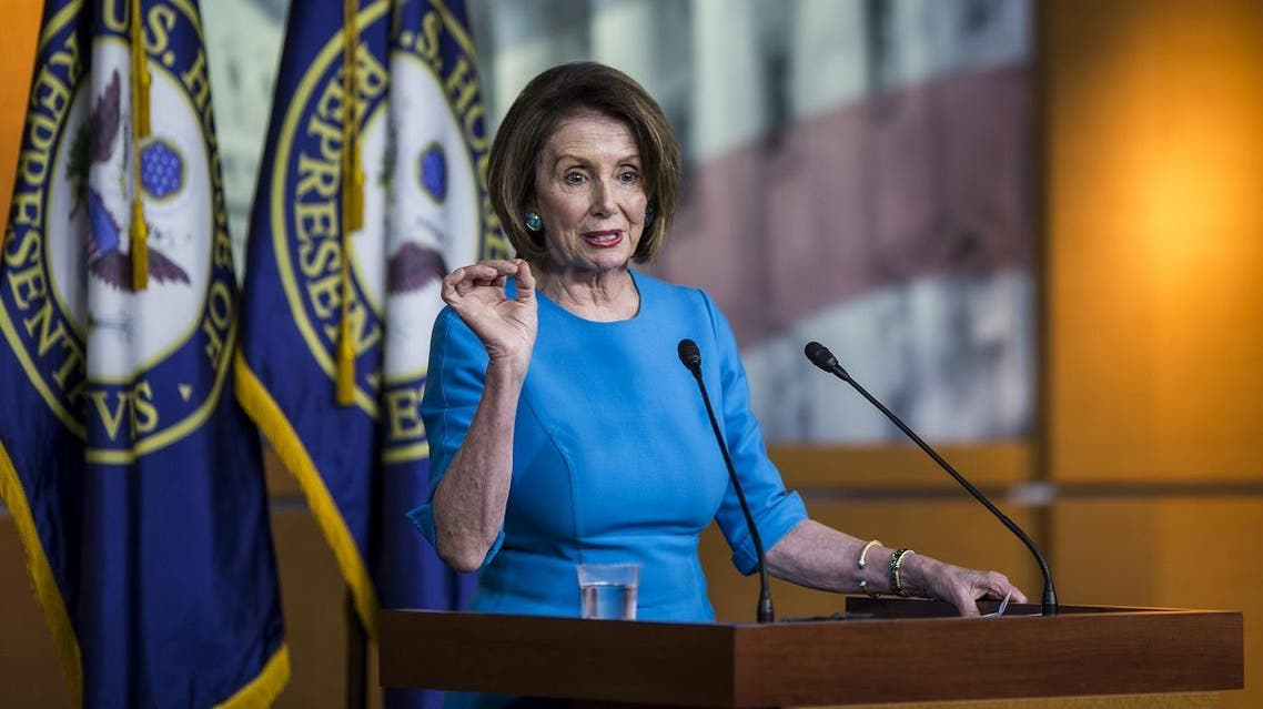 House Speaker Nancy Pelosi (D-CA) speaks during a weekly news conference May 16, 2019 on Capitol Hill in Washington, DC. (AFP)
