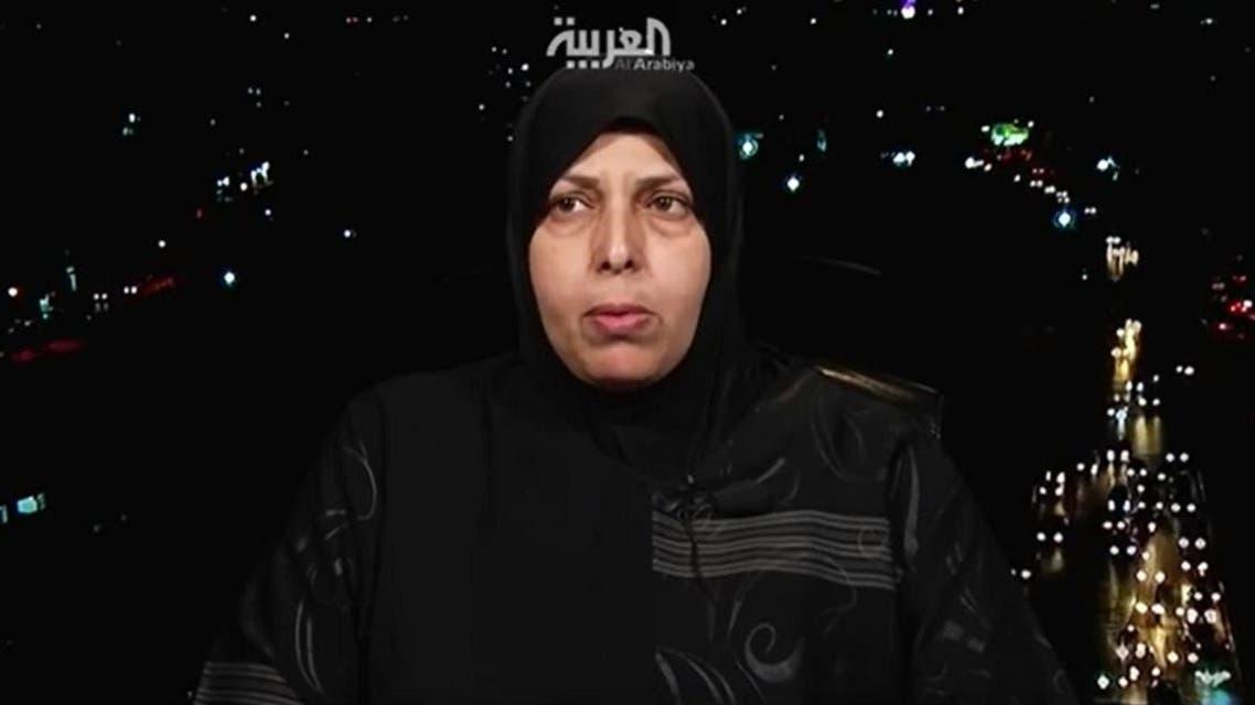 Sanaa Mubarak, the sister of  Zaki Mubarak, the Palestinian who died during his detention in Turkey, speaks to Al Arabiya. (Screen grab)