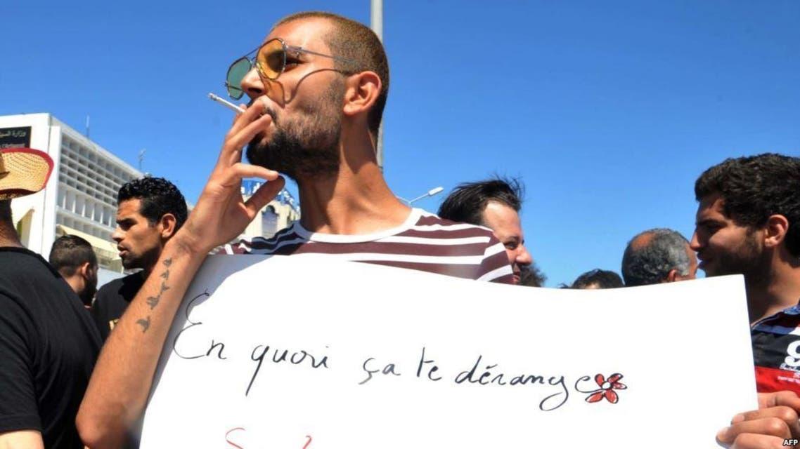 من وقفة احتجاجية سابقة تطالب بحرية الإفطار