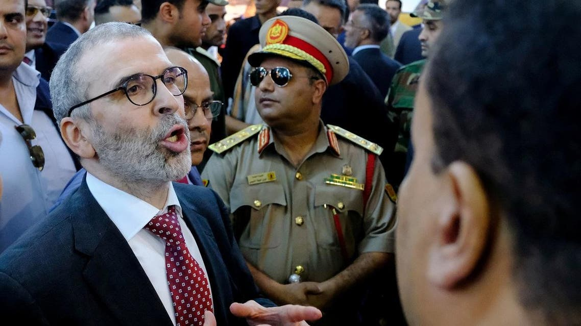 Mustafa Sanalla, the chairman of state oil firm NOC, attends Benghazi International forum and Exhibition of Oil and Gas. (Reuters)