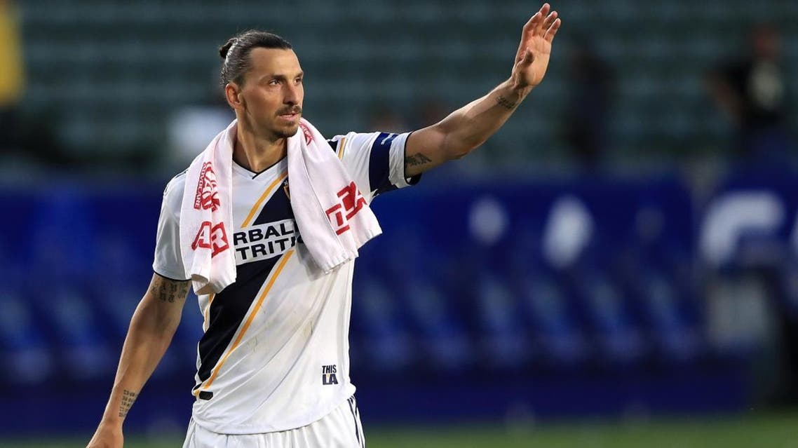 Zlatan Ibrahimovic of Los Angeles Galaxy leaves the field after a game against the Real Salt Lake at Dignity Health Sports Park on April 28, 2019 in Carson, California. (AFP)