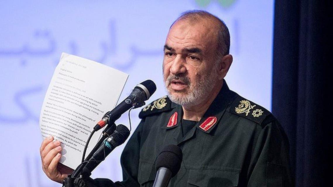 Hossein Salami speaks in a meeting in Tehran, Iran. (AP)