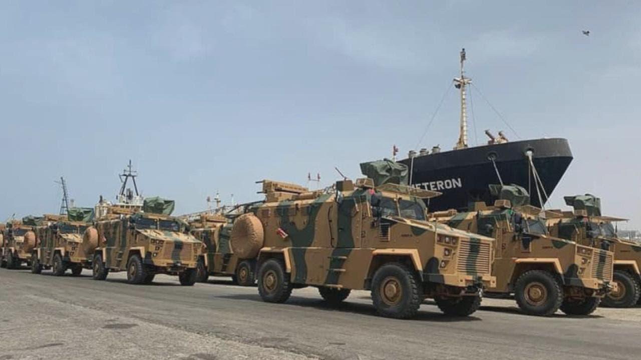 آليات  تركية في طرابلس