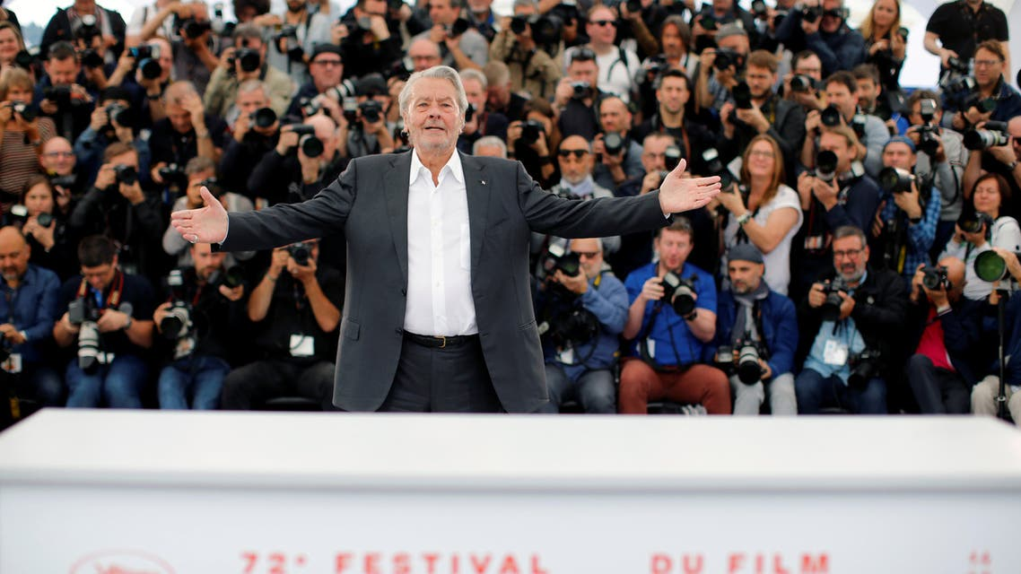 72nd Cannes Film Festival - Honorary Palme d'Or Award - Photocall - Cannes, France, May 19, 2019. Alain Delon poses. REUTERS/Jean-Paul Pelissier TPX IMAGES OF THE DAY