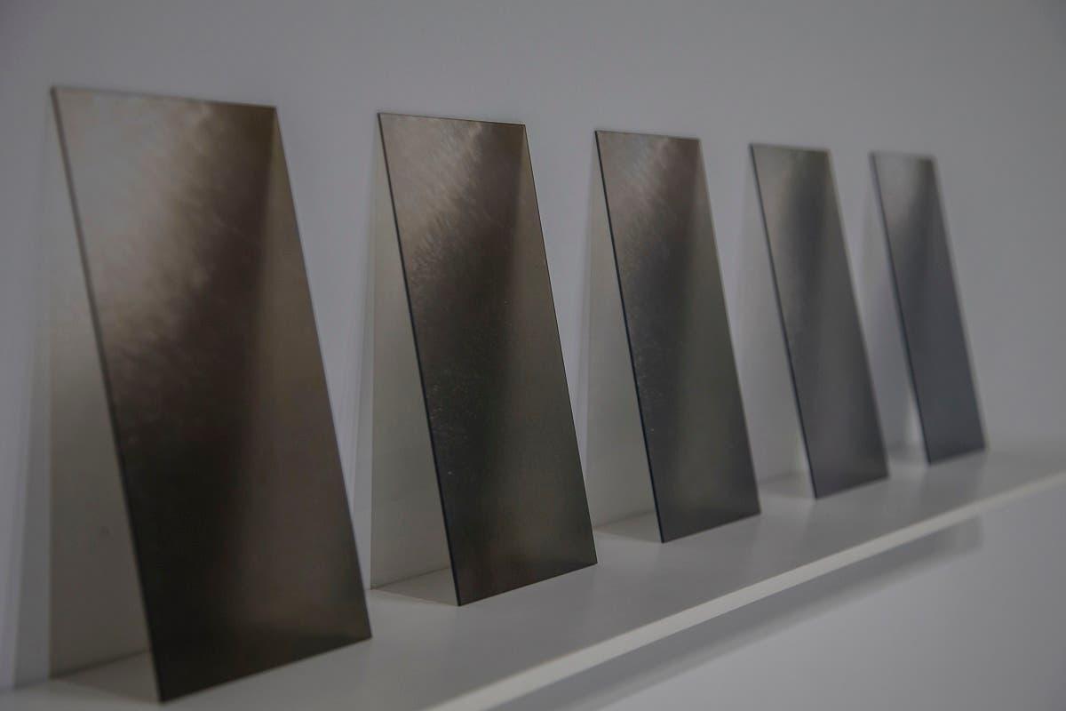 'Momentary I, II, III' (digital prints on acrylic) by Zara Mahmood.